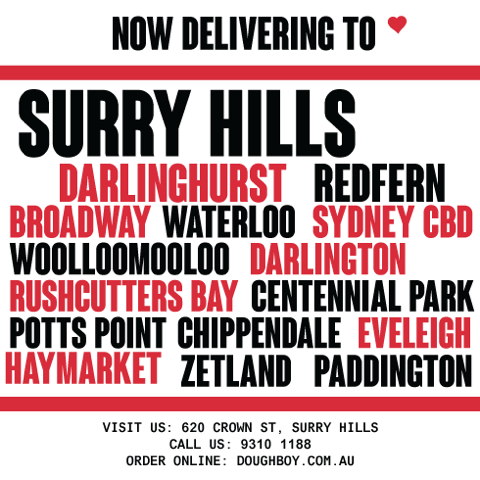 Pizza delivered to Surry Hills